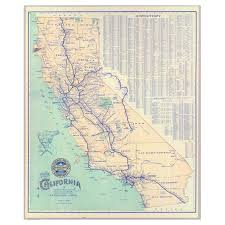 Map Of The Southern States by Swag Paper Map Of California 1901 Self Adhesive Wallpaper Hayneedle