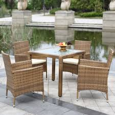 dining room chic small rattan dining set with glass top table by