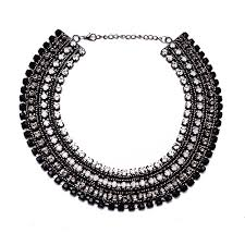 black chokers necklace images Girl era full crystal choker necklaces luxury fashion jewelry jpg