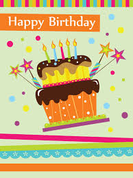 vector set of happy birthday cake card material 02 vector