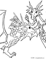 coloriages dragon et chevalier attaquent un méchant dragon fr