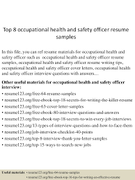 Effective Resumes Examples by Occupational Health And Safety Resume Examples Free Resume