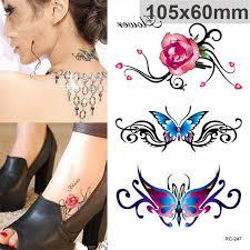 online shop kesmall rose butterfly tattoo women men diy henna body