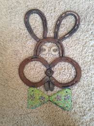 horse shoe easter bunny repurposed pinterest horse shoes