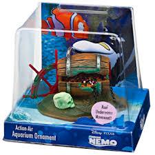 finding nemo barrel of jewels fish tank ornament