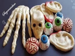 Edible Eyes Cake Decorating Edible Sugar Halloween Cake Decorations Hand Skull 3d Ears Brain