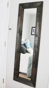 diy wood mirror frame bedroom decor pinterest wood mirror