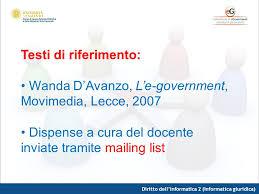 dispense informatica diritto dell informatica 2 informatica giuridica ppt scaricare