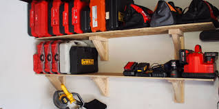 how to build garage storage shelves on the cheap