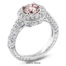 Vintage Style Wedding Rings by 14k White Gold Vintage Style Engagement Ring With Halo With 2 09