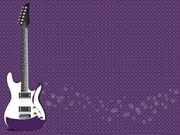 rock guitar powerpoint templates fuchsia magenta music free