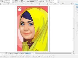 tutorial vektor dengan corel belajar desain grafis cara menggambar wajah menjadi kartun dengan