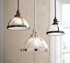 barn pendant light fixtures pb classic ribbed glass pendant pottery barn