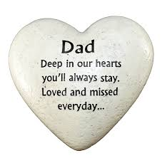 amazon com graveside memorial ornaments heart plaque dad by
