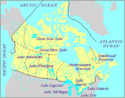 canadian map with great lakes lake the canadian encyclopedia