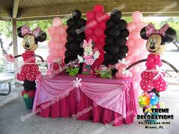 minnie mouse theme party party decorations miami balloon sculptures