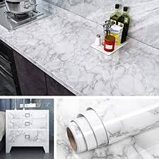 gray kitchen cabinets with white marble countertops livelynine marble wallpaper peel and stick countertops 15 8x197 inch removable wall paper adhesive vinyl marble paper for bathroom kitchen countertop