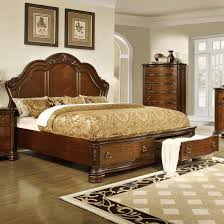 Queen Size Bed With Storage Lifestyle Tobacco Queen Size Panel Bed With 2 Storage Drawers