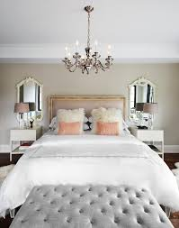 Traditional Nightstands Mirrors Above Nightstands Bedroom Traditional With Chandelier