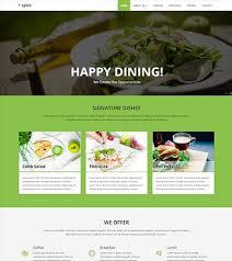 spice restaurant material design website template
