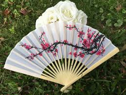 asian fans silk fans for wedding pictures cherry blossom fans outdoor