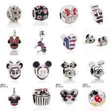 pandora charm bracelet jewelry images Free shipping 1pcs big hole silver beads cute mickey charms fits jpg