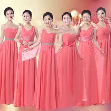 find more information about coral bridesmaid dress long chiffon 6