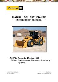 manual estudiante instruccion tecnica cargador frontal 950h