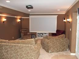 home theater in basement basement custom framed 4ftx 8ft screen for projection tv system