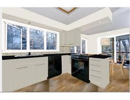 kitchen remodel white cabinets black appliances best cabinet
