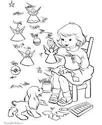 making angel christmas tree ornaments coloring pages