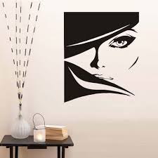 compare prices on stickers for beauty salon online shopping buy beautiful lady with bright eyes vinyl wall sticker for beauty salon hair shop wall decor super