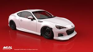 red subaru brz ml24 automotive design prototyping and body kits