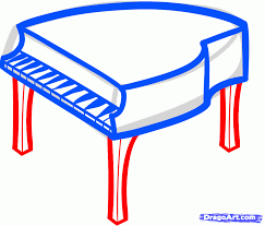 how to draw a piano for kids step by step percussion musical