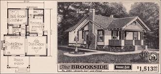 craftsman bungalow floor plans vintage small house plans 1923 sears brookside craftsman style