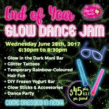 end of year glow in the dark party glama gal tween spa