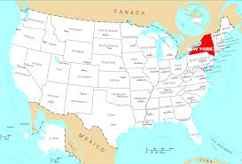 University Of Maine Map Where Is New York City On The Map New York Map
