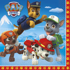 16 serviettes table pat patrouille 13 paw patrol