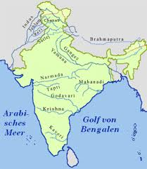 Map India River Map India
