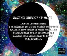 9 best moon waxing crescent images on crescents half