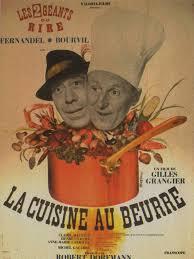 affiche cuisine retro du la cuisine au beurre