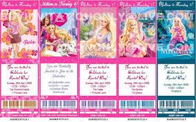 Barbie Birthday Invitation Cards Barbie Personalised Birthday Invitations