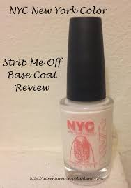 nyc new york color strip me off base coat review adventures in