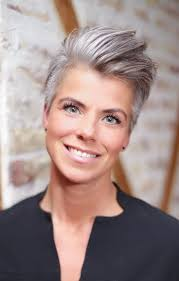 funky hairstyle for silver hair 1896 best gray hair images on pinterest white hair short films
