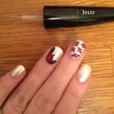 holiday nail art tutorial get to the poinsettia