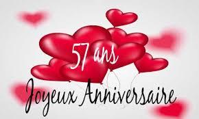 57 ans de mariage carte anniversaire mariage 57 ans bague or
