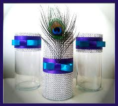 Silver Wedding Centerpieces by Peacock Wedding Centerpieces Peacock Decorations Peacock Party