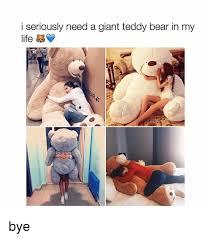 Meme Teddy Bear - i seriously need a giant teddy bear in my life bye life meme on