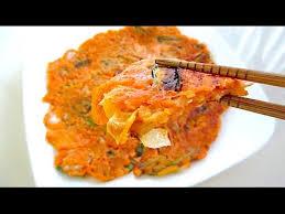 cara membuat pancake kimchi how to make kimchi jeon 김치전 korean kimchi pancake youtube