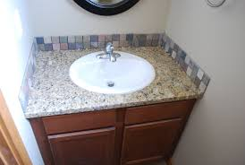 bathroom vanity backsplash or not white ceramic glossy sitting
